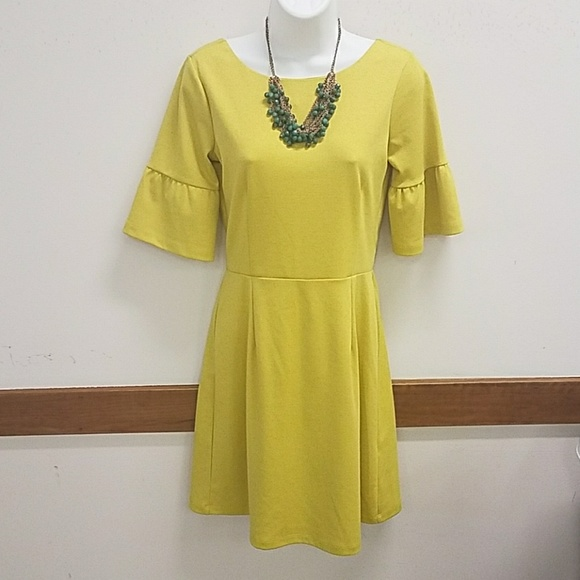 93b9f43d2e0 NWT Asos yellow dress with ruffeled sleeves